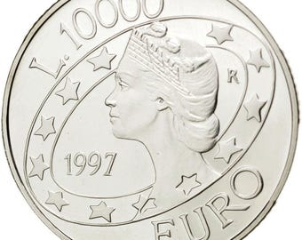 san marino 10000 lire 1997 km #372 ms(63) silver 22.02