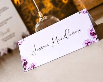 Name Cards - Perfect Peonies