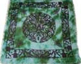 Green Man altar cloth