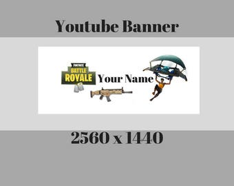 FortNite Battle Royale YouTube Channel Banner /Channel Art /Personalized