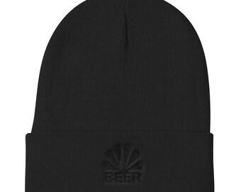 Knit Beanie - Beer Black