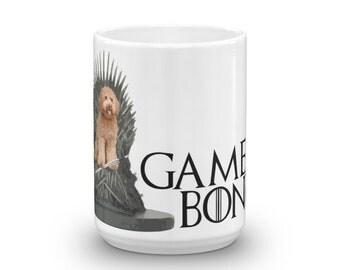 Game of Bones GoldenDoodle Mug - Iron Throne Labradoodle, Golden Doodle, Sheepadoodle