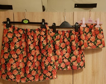 Floral girls skirt