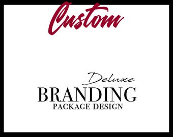 Custom Branding Package Design, Deluxe Brand Package, Logo Package, Logo Design