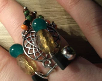 "Ring charms ""Dreamcatcher""."
