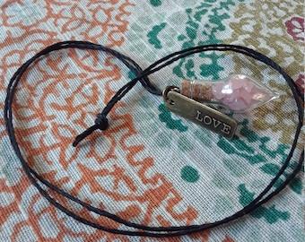 Natural Rose Quartz Car Charm or necklace!!