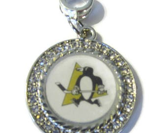 Penguins Silver Plated Charm w/ Connector