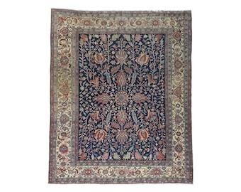 """9'9""""x11'9"""" Antique Persian Heriz All Over Design Even Wear Oriental Rug"""