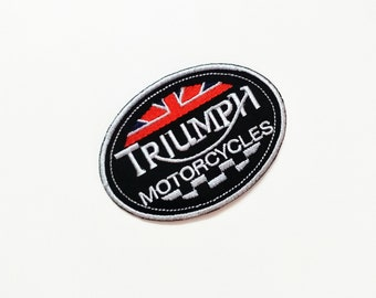 TRIUMPH Sew Embroidered Iron On Patch Applique Motorcycle Sew On Jacket