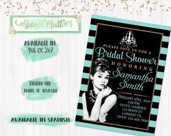 BREAKFAST at TIFFANY Inspired Bridal Shower Invitation / Digital File / Printable
