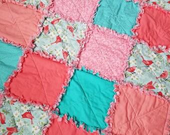 Baby Bird Rag Quilt