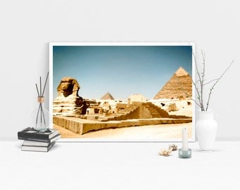 Egyptian pyramids, oil prints, digital download,