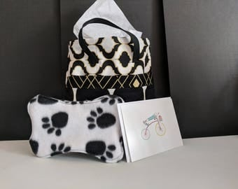 Bow Wow Gift Bag-Paw Print Toy