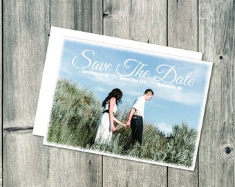 Printed Photo Save The Date Postcard, Save The Date Postcard, Photo Save Our Date Postcard, Wedding Save The Date Postcard, Save The Date