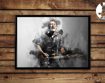 Bruce Springsteen poster wall art home decor print