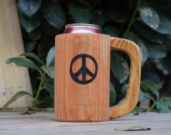 Wooden Mug Kozee - Peace