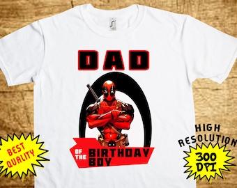 Deadpool DAD, Deadpool Iron On Transfer, Deadpool DAD Printable DIY Shirt Transfer, Digital Files, Instant Download