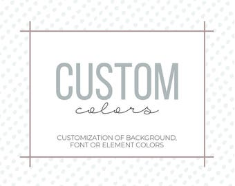 Custom Colors | Color Customization | Change Colors | Add-On