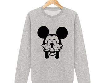 Sweat-shirt fuck mickey mouse