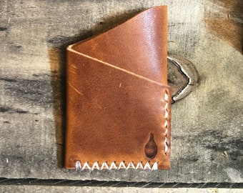 Two Pocket Wallet - Horween Dublin English Tan - leather
