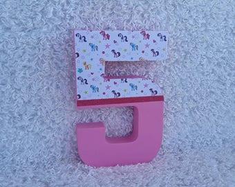 My Little Pony Birthday Prop; My Little Pony Prop; My Little Pony Birthday Number