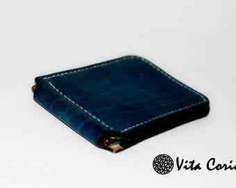 Leather wallet for men Blue money clip money clip wallet leather money clip leather wallet mens wallet minimalist wallet mens leather wallet