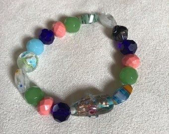 Glass & Beads one of a kind bracelet