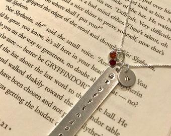 Gryffindor Initial/Lightning Bolt Necklace