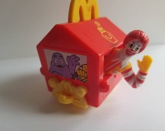 1994 McDonald's happy birthday Ronald McDonald happy meal box train car #1