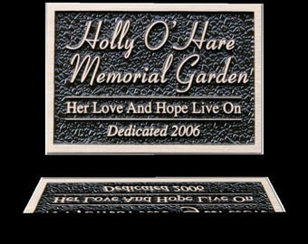 "7.5"" W x 5"" H - Custom Designed Bronze Plaque"