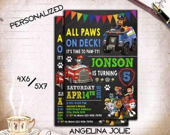 Paw Patrol,Paw Patrol Invitation,Paw Patrol Printable,Paw Patrol Card,Paw Patrol Birthday,Paw Patrol Party,Paw Patrol Boy,Boy Invitation.DD