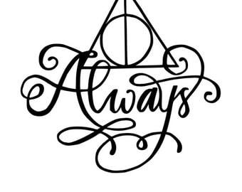 Always Deathly Hallows Harry Potter vinyl decal