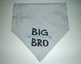 Big Bro, Pregnancy Reveal, Dog Bandana,  New Baby, Gender Reveal, Baby shower, photo shoot, reveal bandana, Scarf, Baby, dog gift