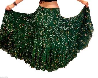 Forest Spruce Green 25Yard Tribal Gypsy Jaipur Authentic Gypsy ATS Skirt