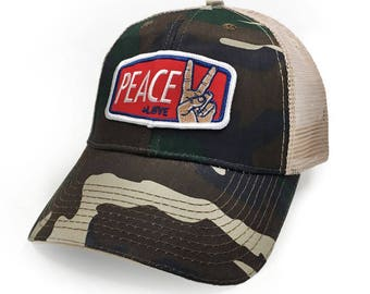 Peace + Love : Camo Trucker Hat