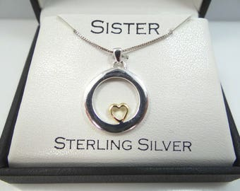 Sterling Silver Sisters Necklace Mint in Box