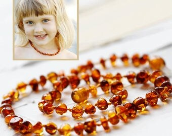 Baltic Amber Teething necklace new Baby first birthday gift