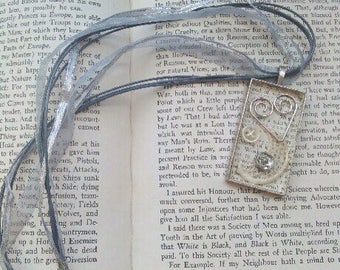 Vintage Inspired Sewing Knitting Pendant Necklace