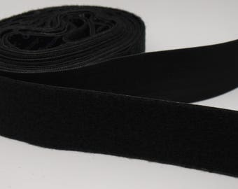 "1 Foot Black Heavy Duty 2"" Stick-on Velcro (VEL2B-1)"