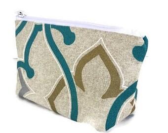 small makeup bag, cosmetics bag, zipper bag, zipper pouch, gift for women, gift for teacher