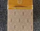 Vintage 1970s YSL Cigarette Case 70s Card Case Yves Saint Laurent