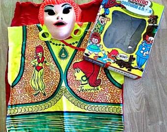 I Dream Of Jeannie Vintage Halloween Costume - 1974 Ben Cooper Costume in Box - 1970's TV Memorabillia - Vintage Halloween - Barbara Eden