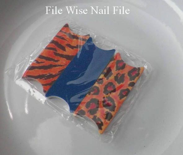 Animal Pack Tiger Leopard File Wise Nail Files Bridal