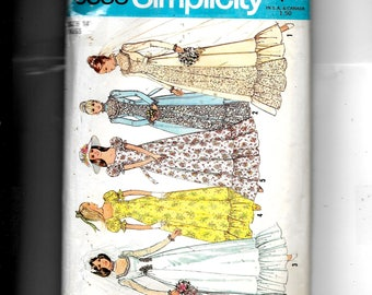 Simplicity  Misses' Bridal Dress With Detachable Train and Bridesmaid or Prom Dress Pattern 6888