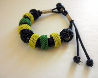 Beaded Bead Bracelet Jamaica Adjustable Beaded Bangle Bracelet