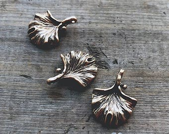 Golden Gingko Charm - DIY Jewelry