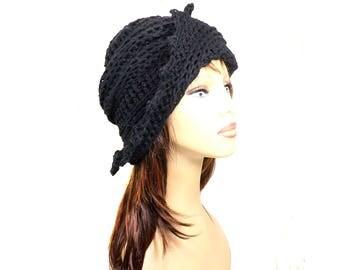 Lauren Hat,  Running Beanie,  Womens Hat Trendy,  Floppy Sun Hat,  Summer Hat,  Crochet Beanie Hat,  Black Hat