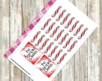 The Vampire Diaries Stickers for Erin Condren (ID400)