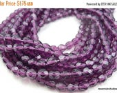 20% Clearance SALE 4mm Czech Beads - Amethyst Firepolished Faceted 50 pcs (G - 20)