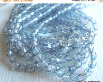 25% OFF Sale 3mm Czech Firepolished Glass Beads - Sapphire Luster (G - 93)
